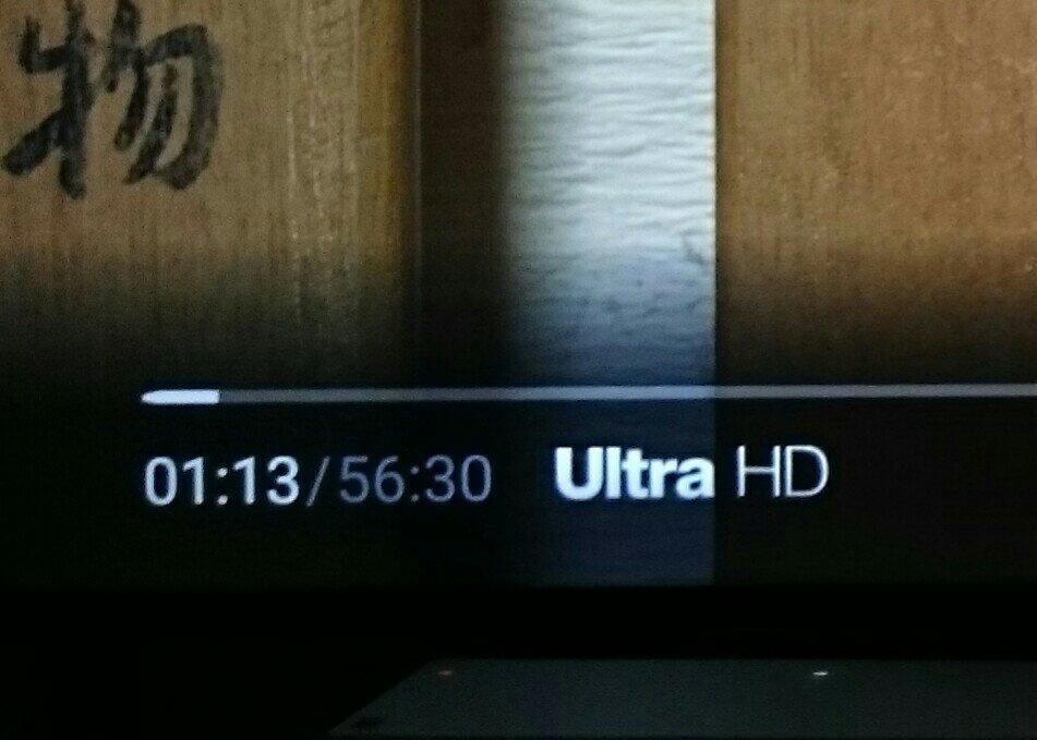 Ultra HD、つまり、4Kで表示されている状態