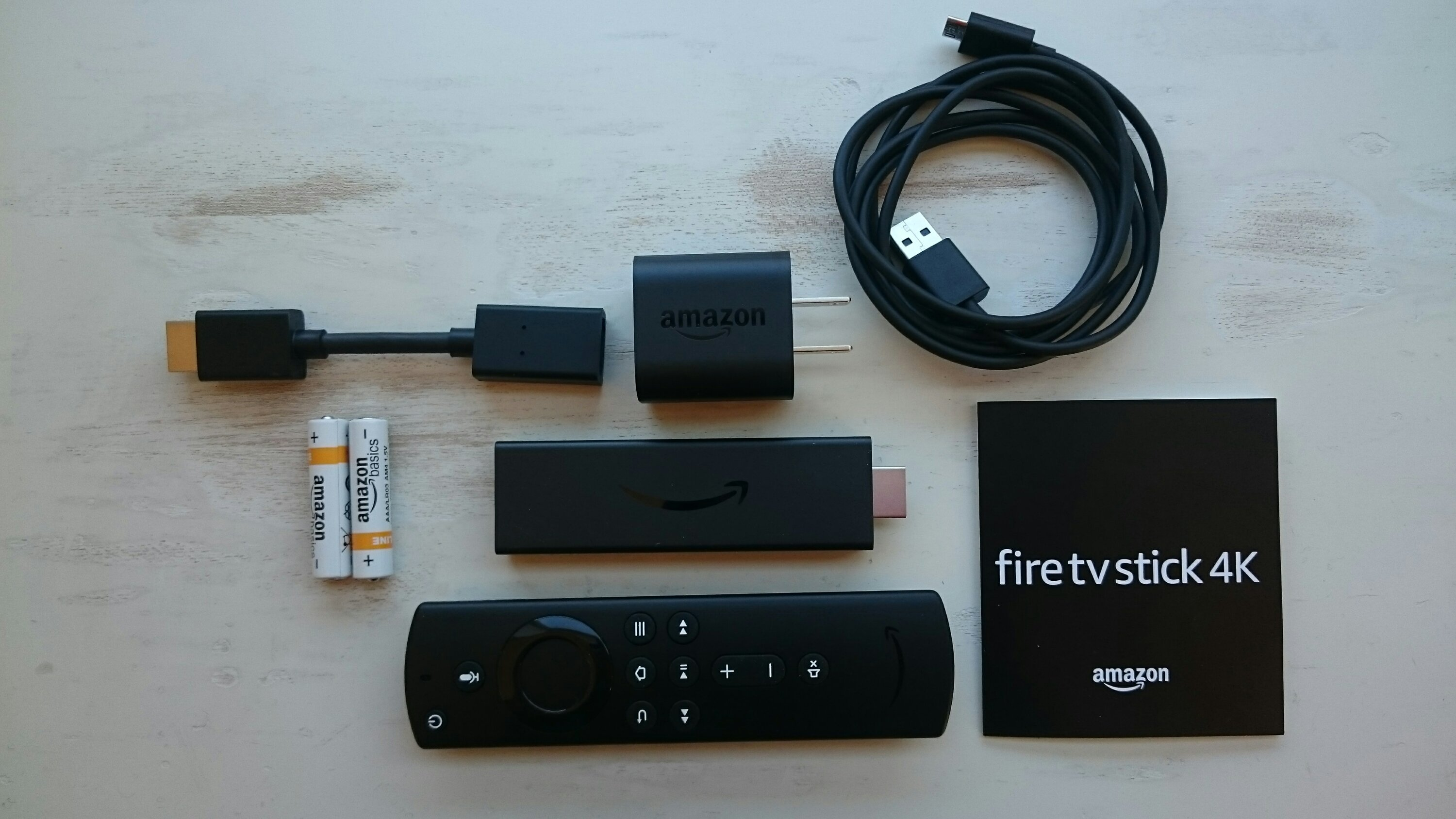 fire tv stick 4Kの箱の中身