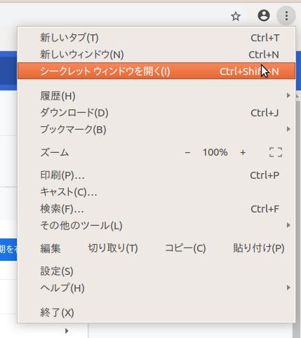 Google_Chrome_シークレットウィンドウの表示