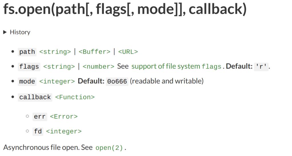 nodejs-fs-open-definition