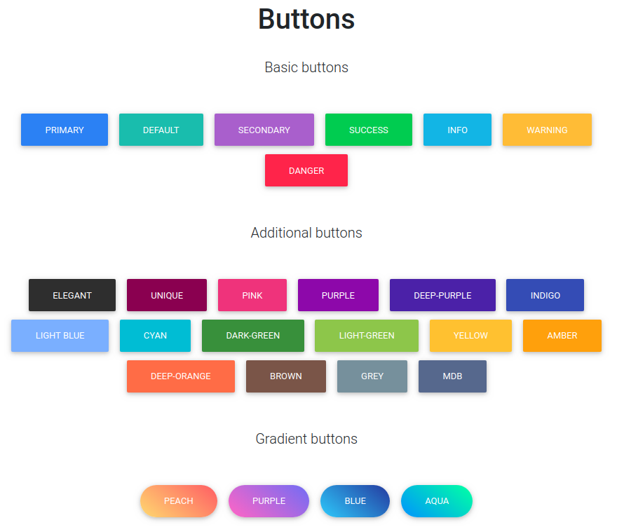 mdbootstrap buttons