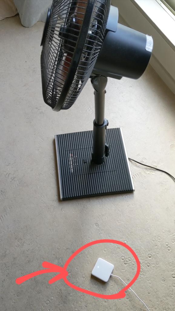 扇風機とSwitchbot hub mini
